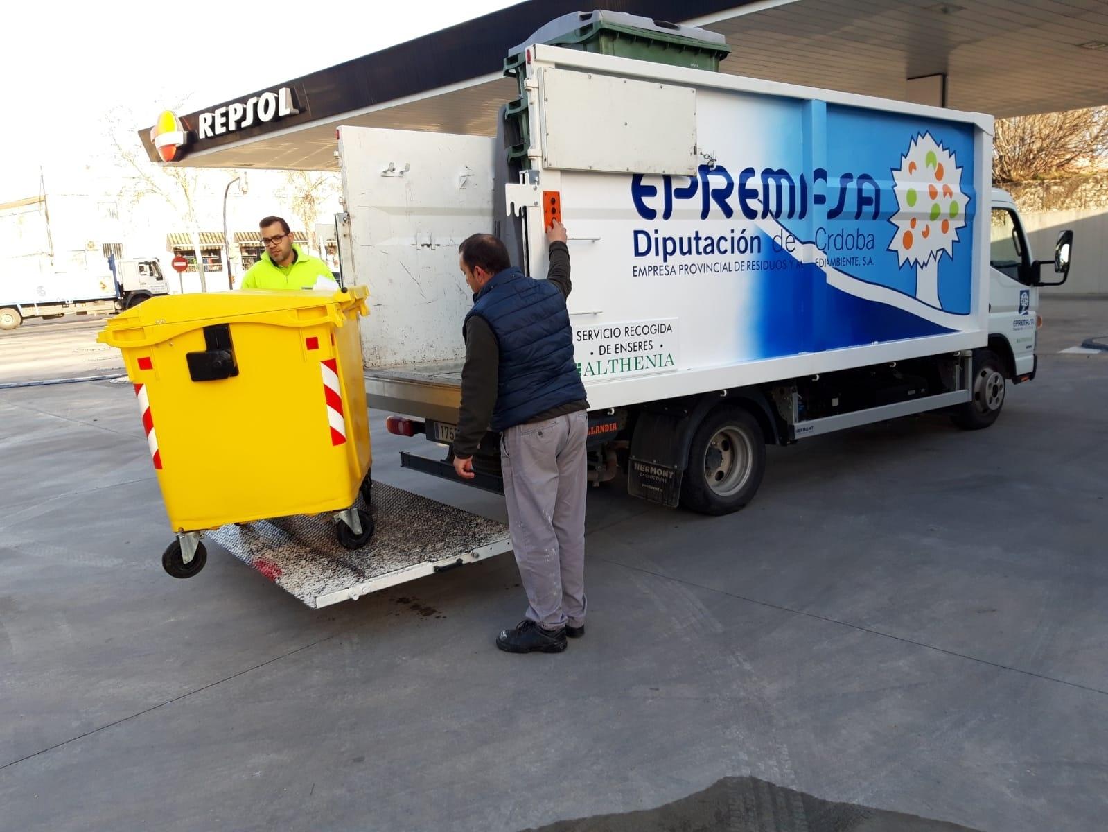 EPREMASA y el Ayuntamiento de Lucena activan una experiencia piloto de recogida selectiva de residuos en el polígono La Viñuela   1