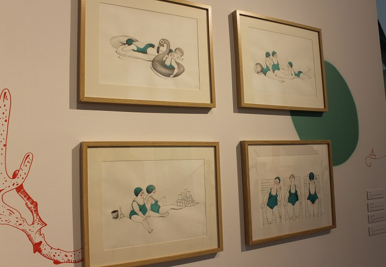 El arte de inspiración marinera de Almudena Castillejo desborda la Sala Azul 1