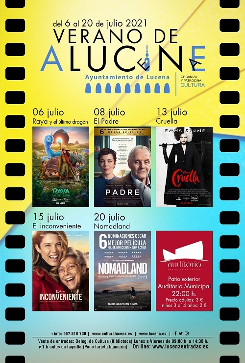 Cartelera cine de verano en Lucena