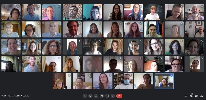 Participantes en el encuentro digital de lanzaderas