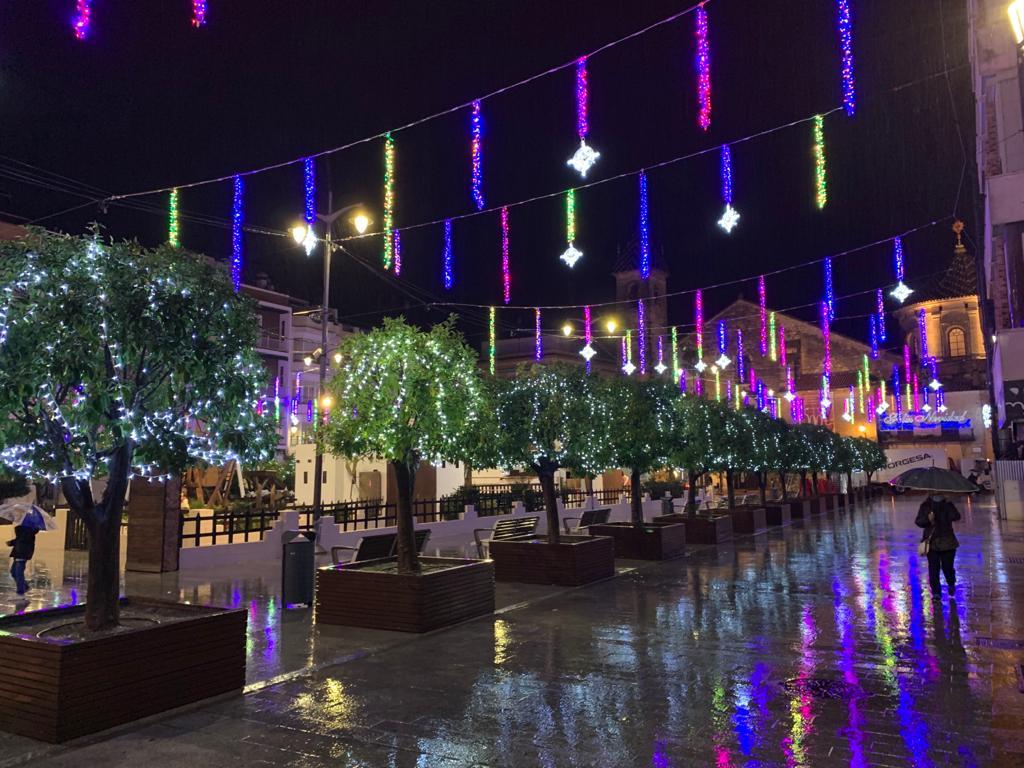 Alumbrado Navidad de la plaza Nueva en 2020.