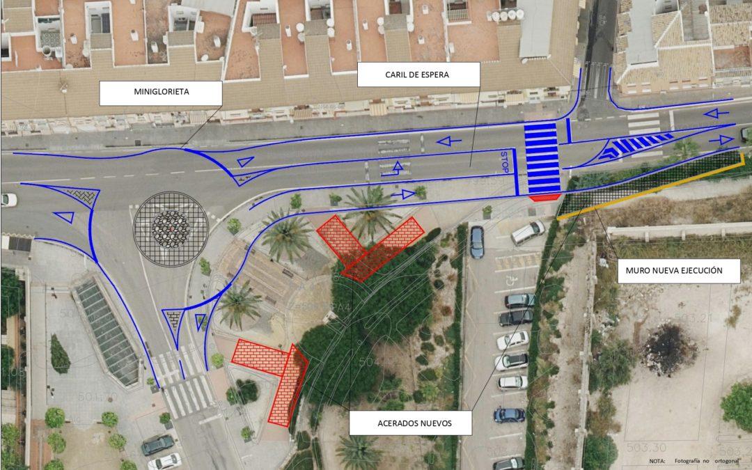 El Ayuntamiento de Lucena saca a licitación las obras de reordenación del tráfico en el cruce de la carretera del Santuario por 85.500 euros