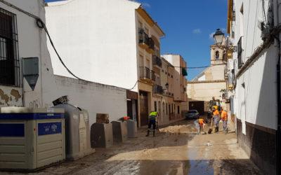 El Ayuntamiento de Lucena refuerza el dispositivo para superar los daños ocasionados por la tormenta