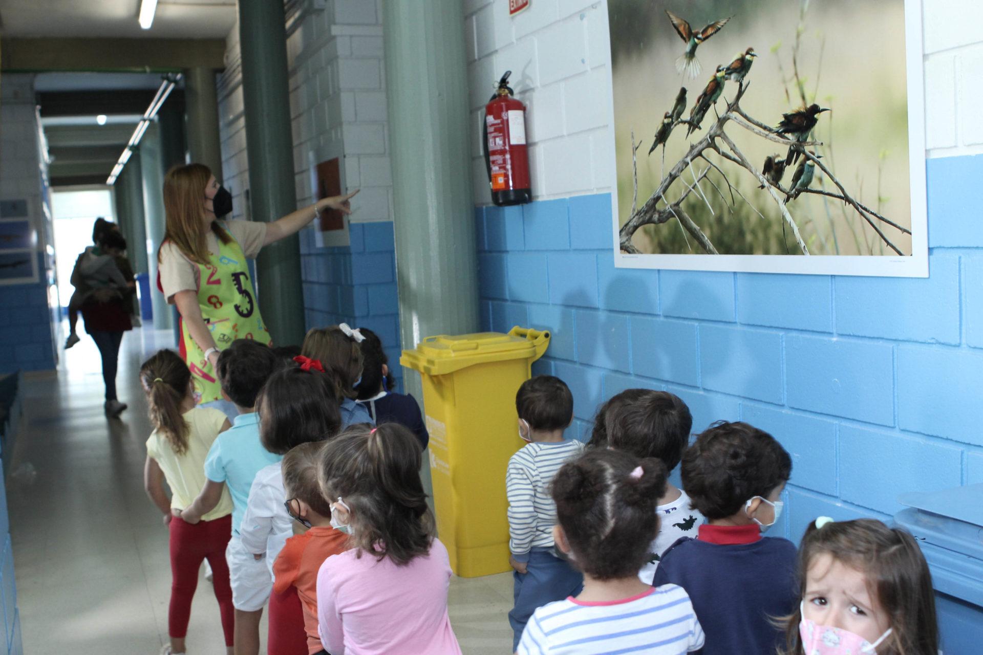 Una clase de Infantil visita la exposición